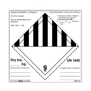 Regulated D.O.T. Labels - 3 3/4 x 4 1/2