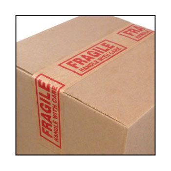 Pre-Printed Kraft Tape - 72mm x 450', Fragile/Handle W/Care Tape - 10 / Case - thumbnail view 1