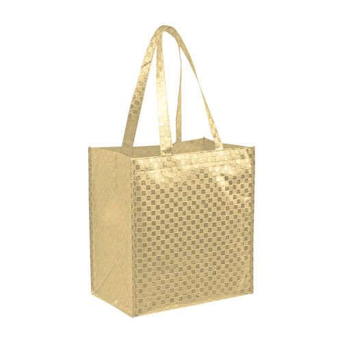 Metallic Gloss Patterned Tote - detailed view 1