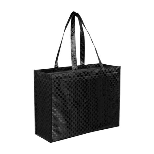 Metallic Gloss Patterned Tote - 16 X 6 X 13