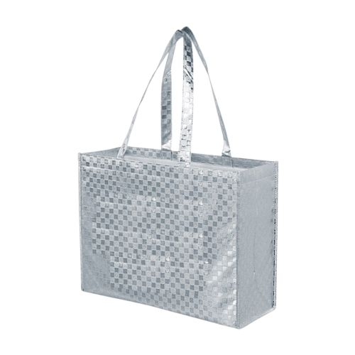 Metallic Gloss Patterned Tote - detailed view 3