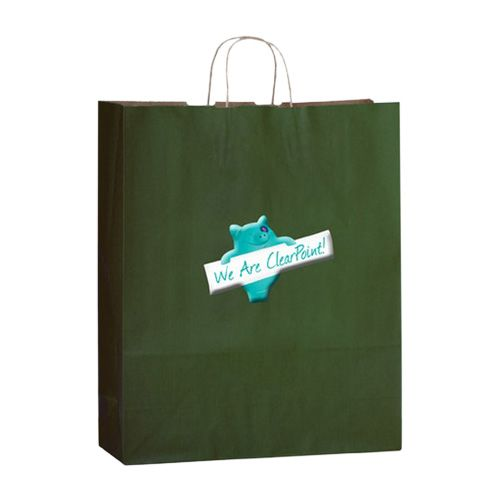 Imprinted Matte Shadow Shopping Bags - detailed view 3