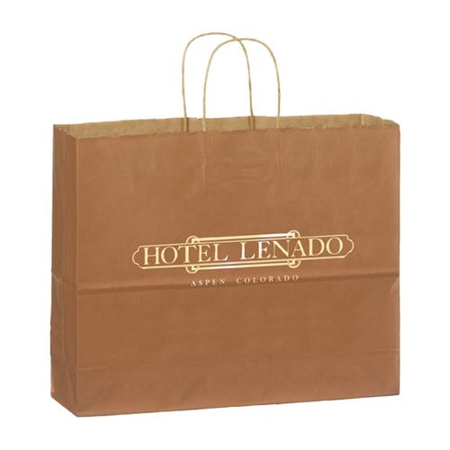 Imprinted Matte Shadow Shopping Bags - detailed view 4