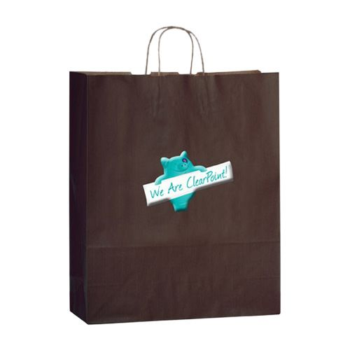 Imprinted Matte Shadow Shopping Bags - detailed view 5