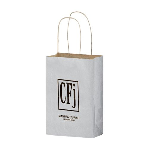 Imprinted Matte Shadow Shopping Bags - detailed view 7