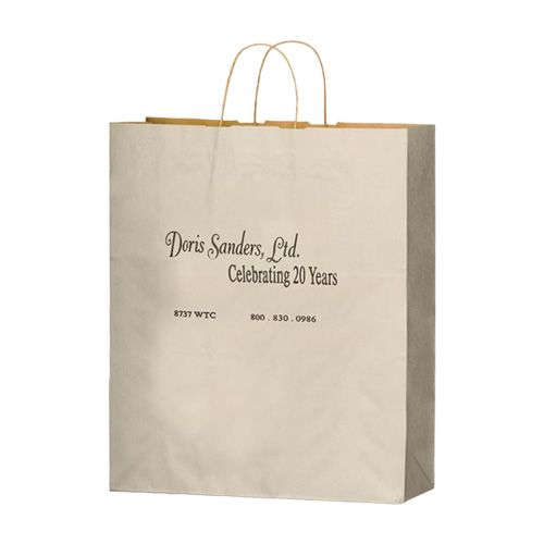Imprinted Matte Paper Shopping Bags - detailed view 1