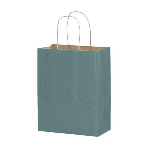 Imprinted Matte Paper Shopping Bags - detailed view 2