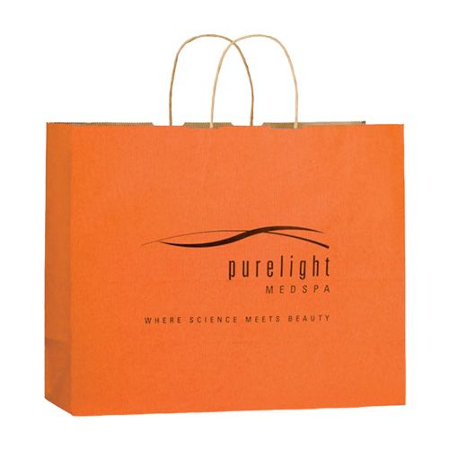 Imprinted Matte Paper Shopping Bags - detailed view 4