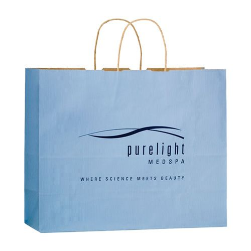Imprinted Matte Paper Shopping Bags - detailed view 6