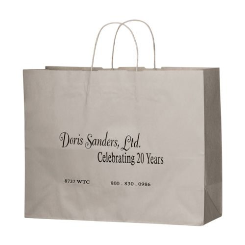 Imprinted Matte Paper Shopping Bags - 16 X 6 X 13