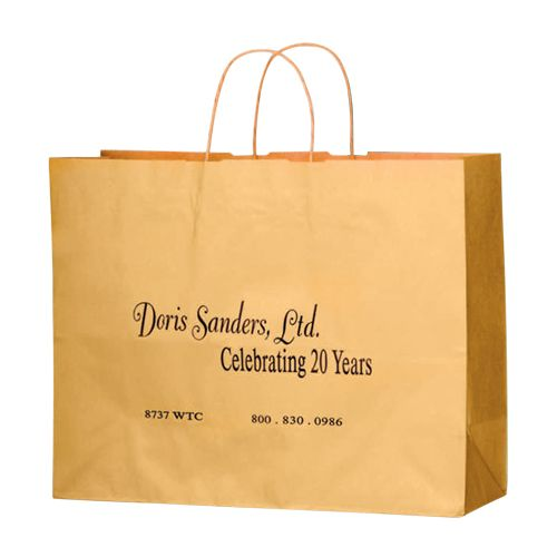Imprinted Matte Paper Shopping Bags - detailed view 9