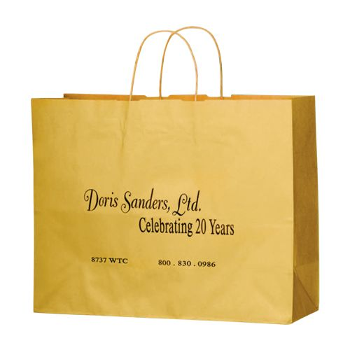 Imprinted Matte Paper Shopping Bags - detailed view 10