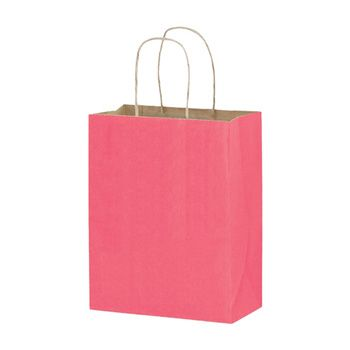 Imprinted Matte Paper Shopping Bags - 8 X 4.75 X 10.5