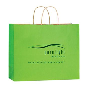 Imprinted Matte Paper Shopping Bags - thumbnail view 5