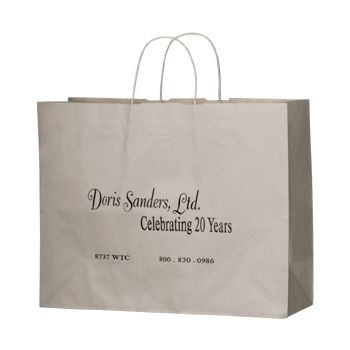 Imprinted Matte Paper Shopping Bags - thumbnail view 8