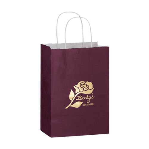 Imprinted Gloss Paper Shopping Bags - detailed view 2
