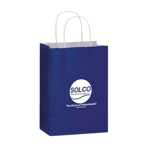 Imprinted Gloss Paper Shopping Bags - detailed view 7