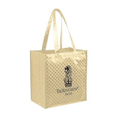 Imprinted Met Gloss Pattern Grocery Bags - 16 X 6 X 13