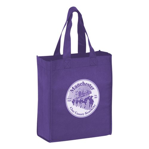 Imprinted Economy Totes With Insert - detailed view 12