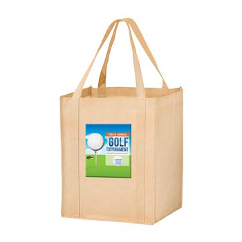 Imprinted Economy Totes With Insert - 13 X 10 X 15