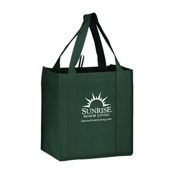 Imprinted Y2K Heavy Grocery Bags W/ Loop - 12 X 8 X 13
