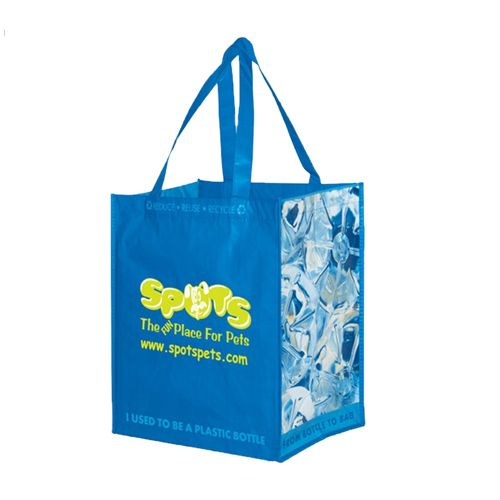 Imprinted Laminated Recycled Grocery Bag - detailed view 1