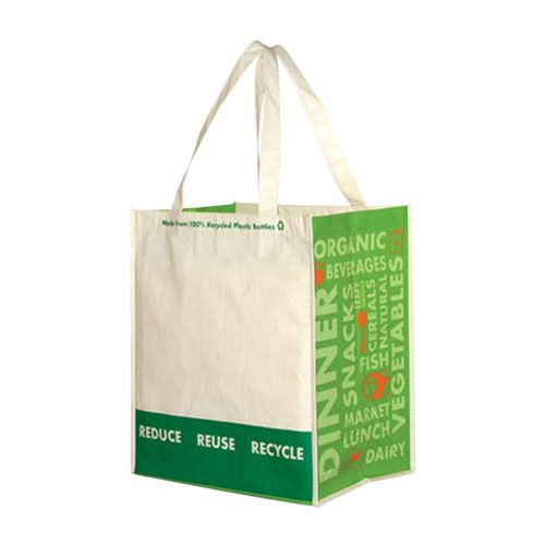 Imprinted Laminated Recycled Grocery Bag - detailed view 2