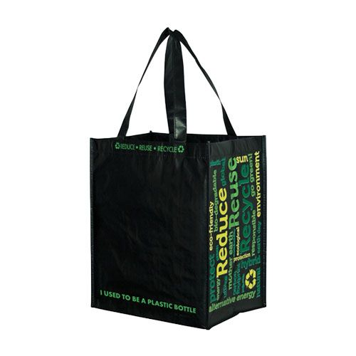 Imprinted Laminated Recycled Grocery Bag - detailed view 3
