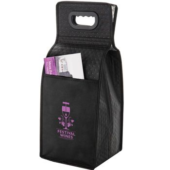 Imprinted Isulated Wine Bags - 10 X 7 X 19.5
