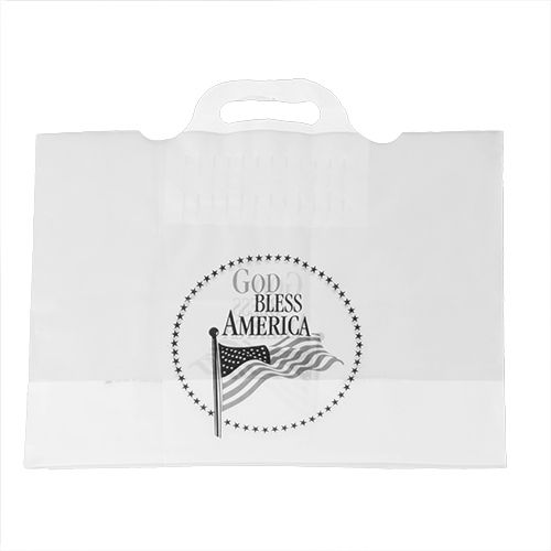 Imprinted Soft Bridge Handle Bags - 16 X 12 X 6
