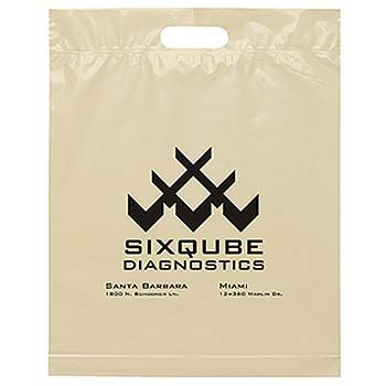 Imprinted Die Cut Handle Bags - thumbnail view 2