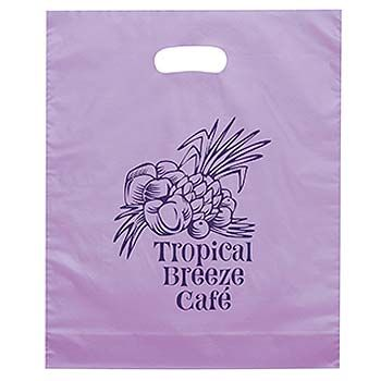 Imprinted Frosted Die Cut Bags - thumbnail view 4