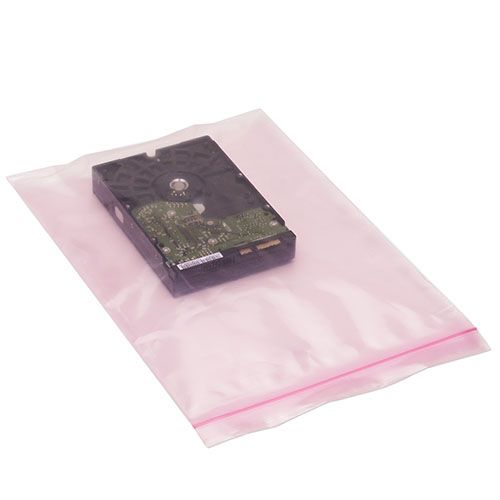 Pink Anti Static Reclosable Bags - thumbnail view 1