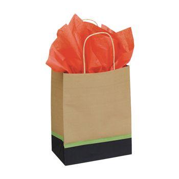 Modern Kraft Paper Shopping Bags - thumbnail view 1