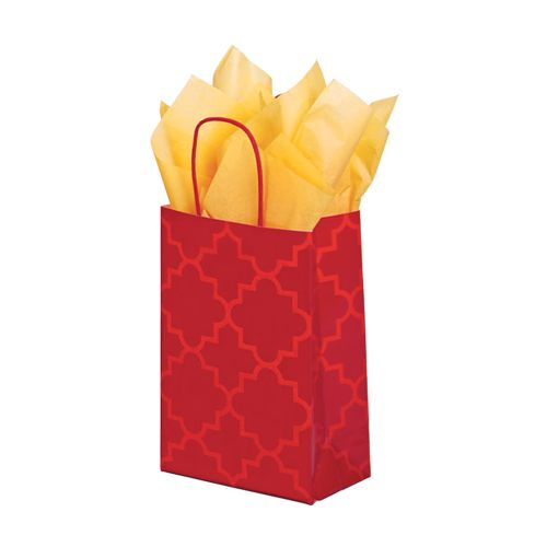 Moroccan Tile Paper Shopping Bags - detailed view 1