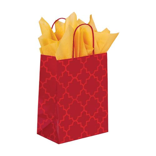 Moroccan Tile Paper Shopping Bags - detailed view 2