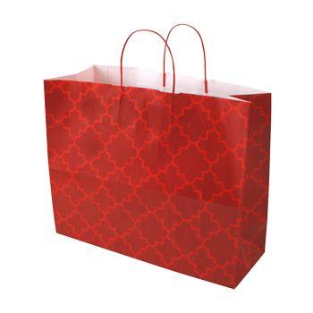 Moroccan Tile Paper Shopping Bags - thumbnail view 3