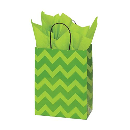 Bold Floral/Chevron Paper Shopping Bags - detailed view 3