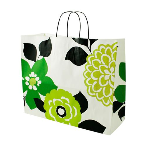 Bold Floral/Chevron Paper Shopping Bags - detailed view 4