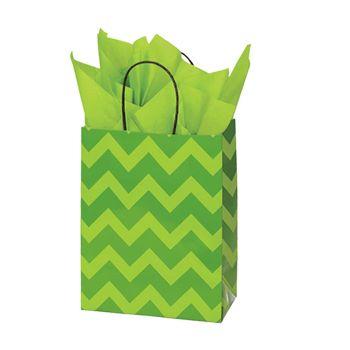 Bold Floral/Chevron Paper Shopping Bags - thumbnail view 3