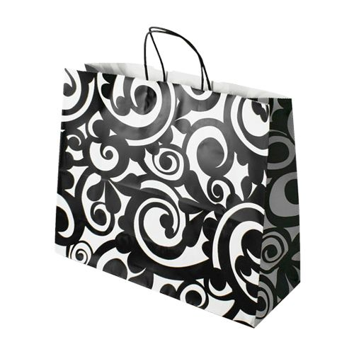 Bold Scroll Paper Shopping Bags - detailed view 4