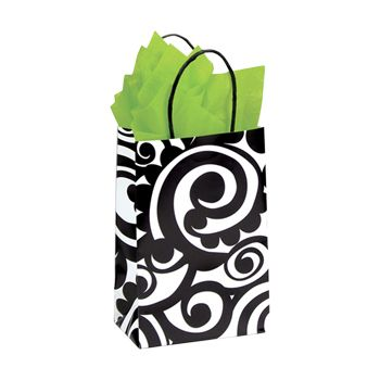 Bold Scroll Paper Shopping Bags - thumbnail view 1