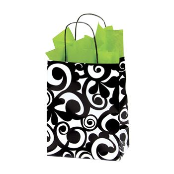 Bold Scroll Paper Shopping Bags - thumbnail view 2