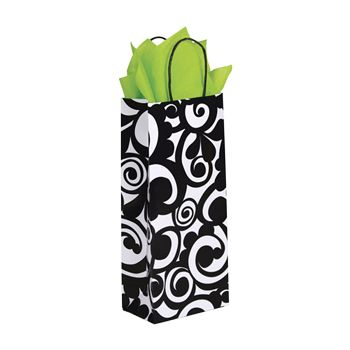 Bold Scroll Paper Shopping Bags - thumbnail view 3