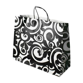 Bold Scroll Paper Shopping Bags - thumbnail view 4
