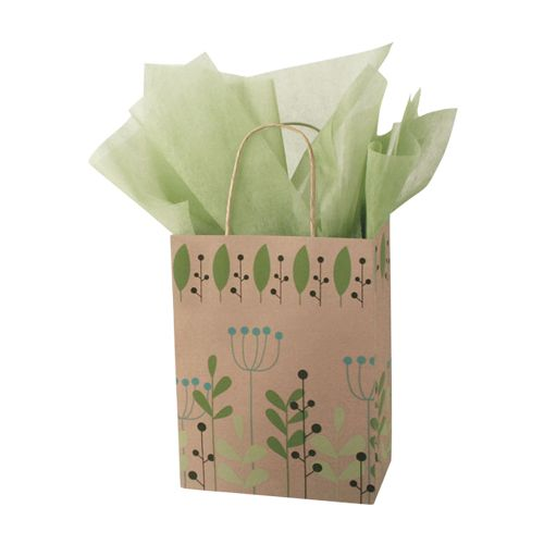 Leaves & Berries/Kraft Paper Shop Bags - detailed view 2