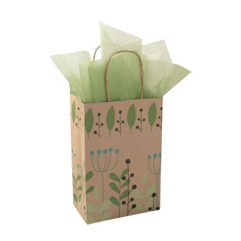 Leaves & Berries/Kraft Paper Shop Bags - thumbnail view 1