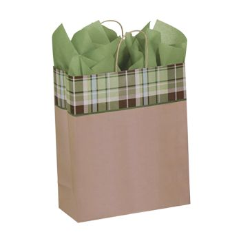 Kensington Plaid/Kraft Paper Shop Bags - thumbnail view 3