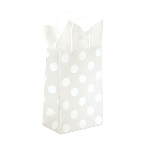 Polka Dot Pearl Paper Shopping Bags - detailed view 1