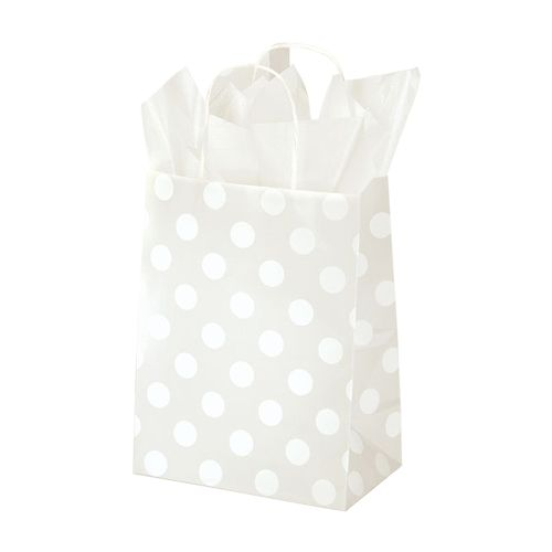 Polka Dot Pearl Paper Shopping Bags - detailed view 2